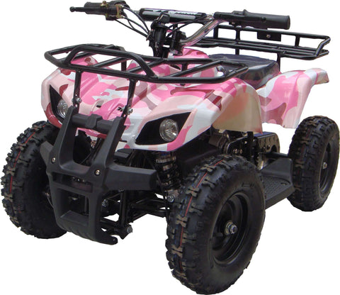 Go-Bowen XW-EA16-PC Sonora 24V Mini Quad ATV Dirt Motor Bike Pink Camo New