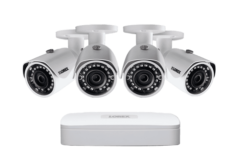 Lorex LN1080-44W 4 Camera 4 Channel NVR 2K IP Indoor/Outdoor Surveillance Security System New