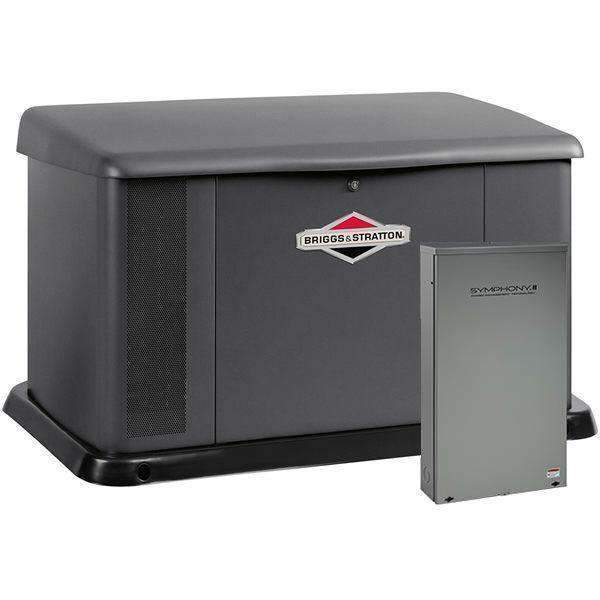 Briggs & Stratton Aluminum 20kw Standby Generator w/ 400 Amp Split Automatic Transfer Switch New