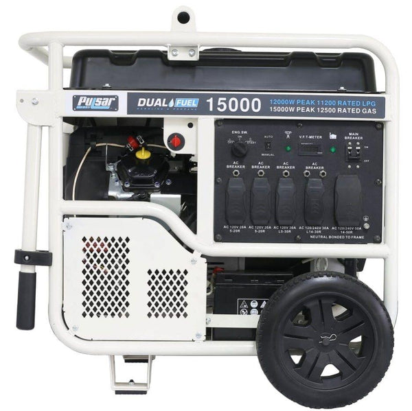 Pulsar PG15KVTWB 12000W/15000W Dual Fuel Electric Start Portable Generator New