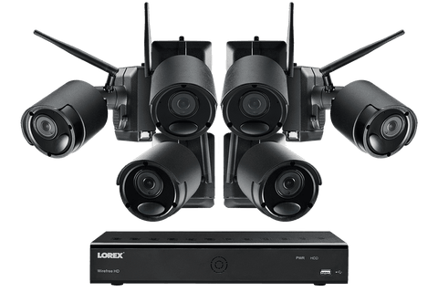 Lorex LWF2080B-66 Wire Free Battery Two-Way Audio 6 Camera 6 Channel Indoor/Outdoor Security Surveillance System New
