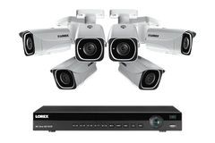 Lorex 4KHDIP86 6 Camera 8 Channel Indoor/Outdoor 4K Ultra HD IP Security Surveillance System New