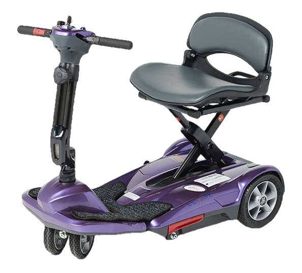 EV Rider Transport M Easy Move Scooter Lithium Folding Scooter Plum Open Box