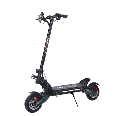 "NanRobot D6+ Foldable Lightweight 2000W 26ah 52V 10"" Electric Scooter w/ Hydraulic Brakes Black New"