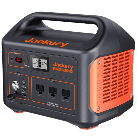 Jackery 1000Wh Portable Power Station Lithium-ion Battery Solar Generator With AC Outlet New