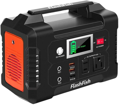 Flashfish 200W Portable Power Station 40800mah Solar Generator With 110V AC Outlet/2 DC Ports/3 USB Ports Backup Battery Pack New