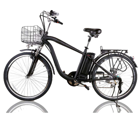 NAKTO 26 inch 250W Camel Electric Bicycle 6 Speed E-Bike 36V Lithium Battery Men's Black New