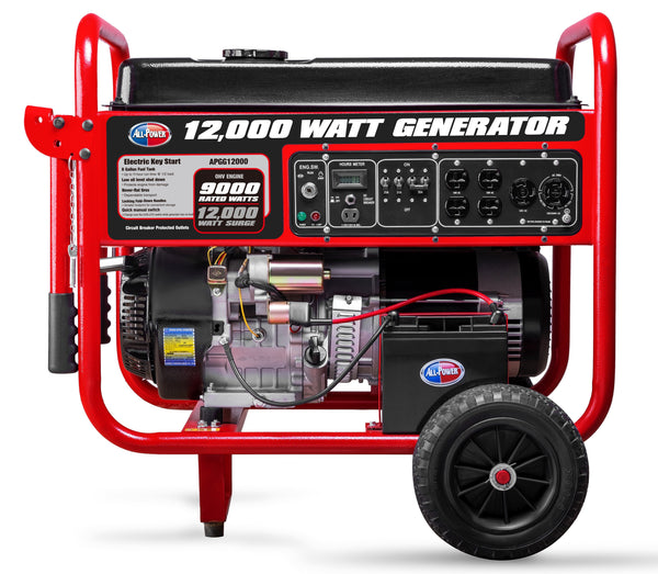 Gentron/All Power America APGG12000C 9000W/12000W Electric Start Gas Generator New