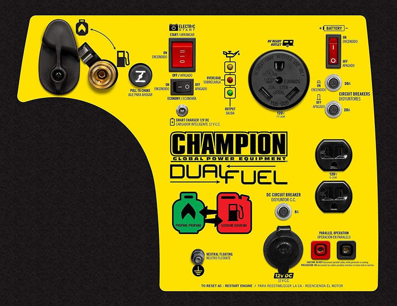 Champion 100263 3100W/3400W Inverter Dual Fuel Electric Start Generator Manufacturer RFB