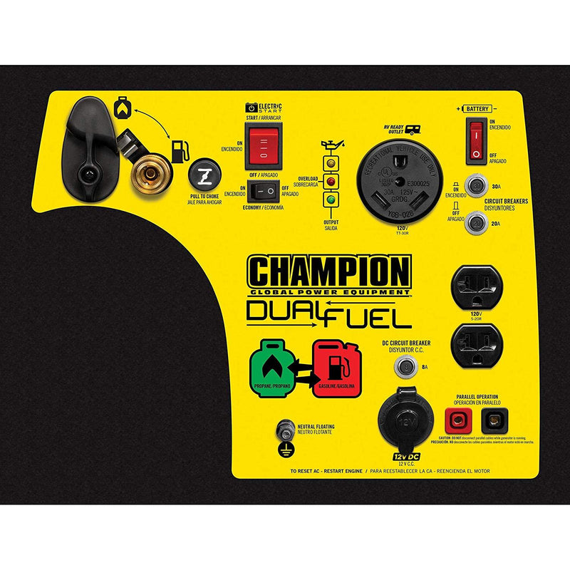 Champion 100264 3150W/3500W Inverter Dual Fuel Electric Start Generator Manufacturer RFB