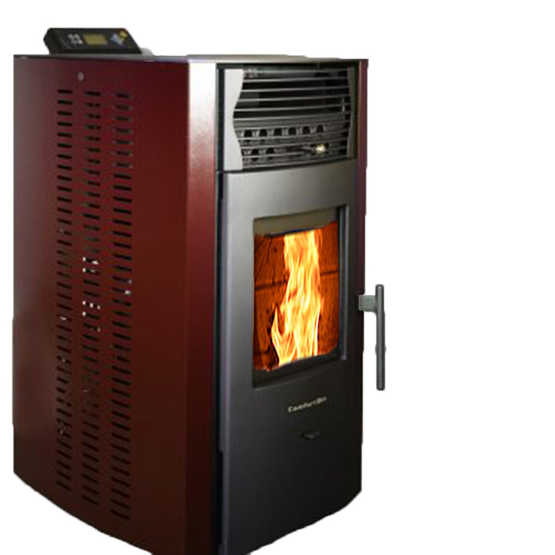 ComfortBilt HP50 2,200 sq. ft. Pellet Stove Auto Ignition 47 lb Hopper Burgundy New