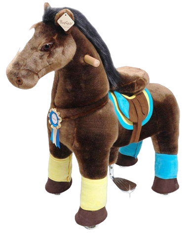 PonyCycle Vroom Rider X K Series VR-K45 Ride-On Dark Brown Horse Large New