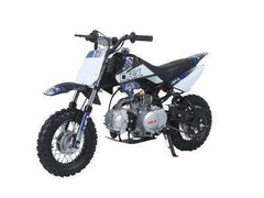 Ice Bear PAD110-1 Scrub 110cc Dirt Bike Semi Automatic Black with Blue New