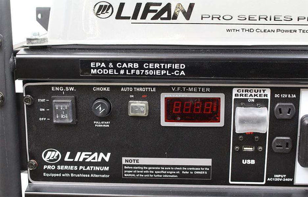 Lifan LF8750iEPL-RV Pro Series 8000W/8750W Electric Start Generator New