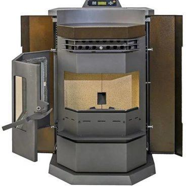 ComfortBilt HP22-N 3,000 sq. ft. EPA Certified Pellet Stove with Auto Ignition 80 lb Hopper Capacity Brown New