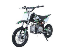 Ice Bear PAD125-1 Roost 125cc Dirt Bike 4 Speed Manual Kick Black with Green New