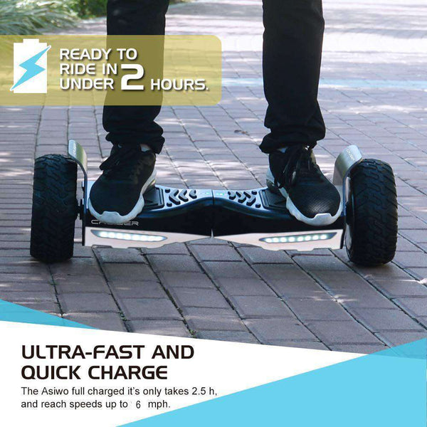 "City Cruiser Off Road Wheels 8.5"" Electric Smart Hoverboard with Bluetooth Speakers Black and White New"