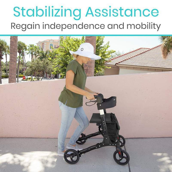Vive Health Upright Rollator Walker White New