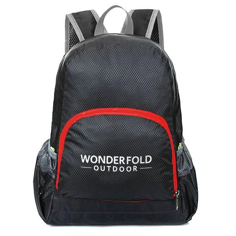 WonderFold Baby WBBLACK Foldable Backpack Black New