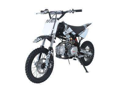 Ice Bear PAD125-1 Roost 125cc Dirt Bike 4 Speed Manual Kick Black with White New