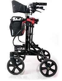 EV Rider Move-X Rollator 4 Wheel Walker Black Open Box