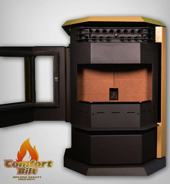 ComfortBilt HP22 2,800 sq. ft. EPA Certified Pellet Stove with Auto Ignition 55 lb Hopper Apricot New
