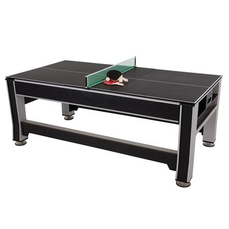 Triumph Sports 80278 84 Inch 3-in-1 Air Hockey Billiards Table Tennis Rotating Game Table New
