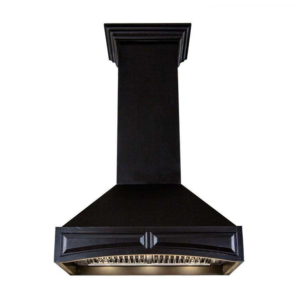 ZLINE 30 in. Wooden Wall Mount Range Hood in Black - Includes 900 CFM Motor (321CC-30)