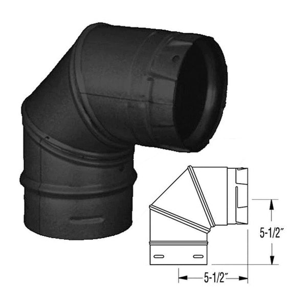 ComfortBilt 90 Degree Elbow Piping for Corner Installation New (Fits all Comfortbilt models)