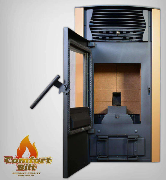 ComfortBilt HP50 2,200 sq. ft. EPA Certified Pellet Stove Auto Ignition 47 lb Hopper Apricot New