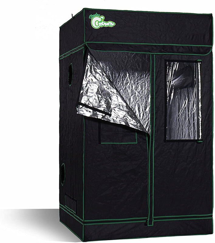 Hydro Crunch D940008600 4 ft. x 4 ft. x 6.5 ft. Heavy Duty Grow Room Tent New