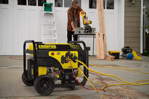 Champion 100813 7500W/9375W 50 Amp Gas Electric Start Generator New