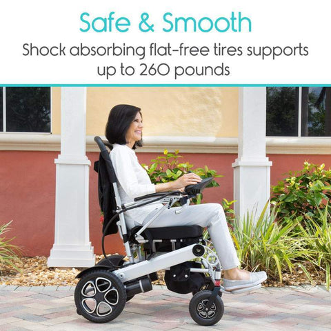 Vive Health MOB1029L Foldable Power Wheelchair New