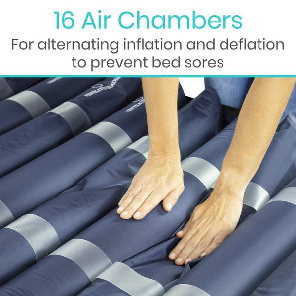 "Vive Health 8"" Alternating Pressure Mattress - Low Air Loss - New"