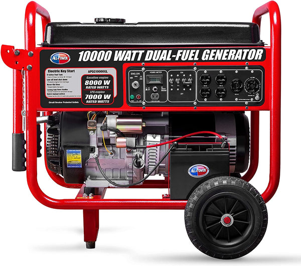 All Power America/Gentron APGG10000GL 8000W/10000W Electric Start Dual Fuel Generator New
