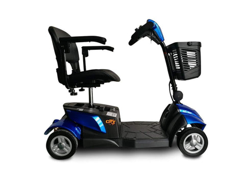 EV Rider CityCruzer 4 Wheel Electric Travel Scooter Blue Open Box