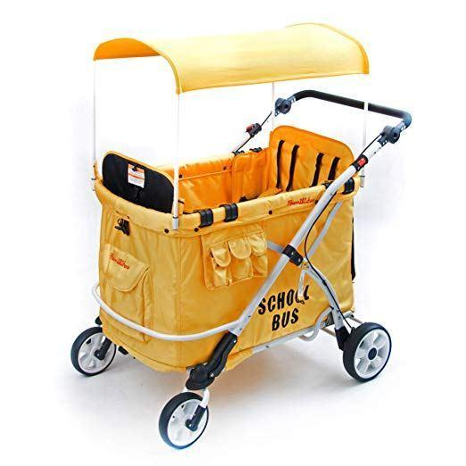 WonderFold Baby MJ06 Multi-Purpose Folding Kids School Bus Quad Stroller Wagon New