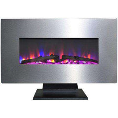 Cambridge CAM36WMEF-2SS 36 Inch Stainless Steel with Multi-Color LED Flames and Driftwood Log Display New