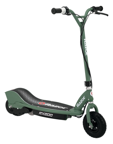 Razor RX200 Up to 8 Mile Range 12 MPH Heavy Duty Off Road Tires Electric Scooter Green New