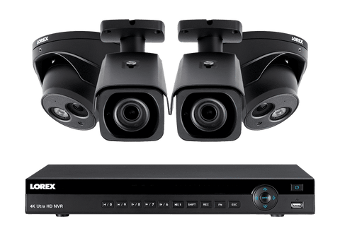 Lorex 4KHDIP822NV 4 Camera 8 Channel Indoor/Outdoor 4K Ultra HD IP Security Surveillance System New