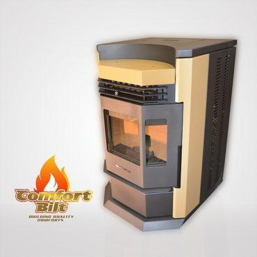 ComfortBilt HP22-N 3,000 sq. ft. EPA Certified Pellet Stove with Auto Ignition 80 lb Hopper Capacity Apricot New