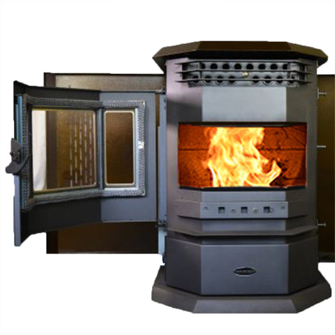 ComfortBilt HP22-SS 2,800 sq. ft. EPA Certified Auto Ignition Pellet Stove 55lb Hopper Brown New