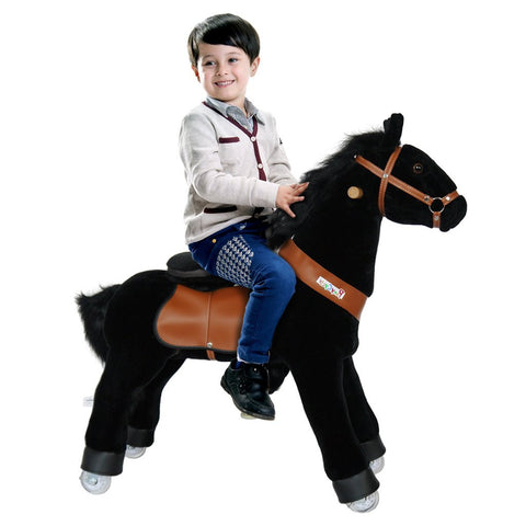 PonyCycle x Vroom Rider VR-N3183 Ride-on Black Horse For for 3-5 Year Olds New