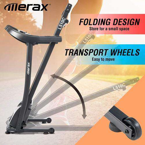 Merax L510C Folding Electric Treadmill Motorized Power Running Machine Fitness New
