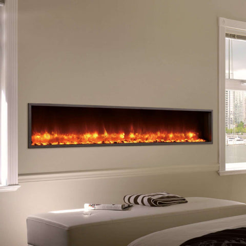 Dynasty DY-BT79 79 Inch Wall Mount Linear Built-In Electric LED Fireplace New