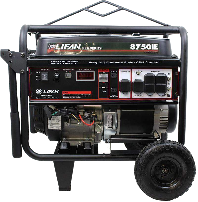 Lifan LF8750iE Pro Series 8000W/8750W Electric Start Generator New