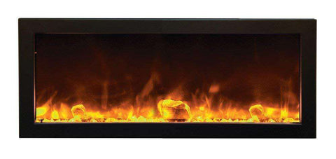 Amantii BI-40-SLIM 40″ Slim Indoor/Outdoor Built-In Electric Fireplace New