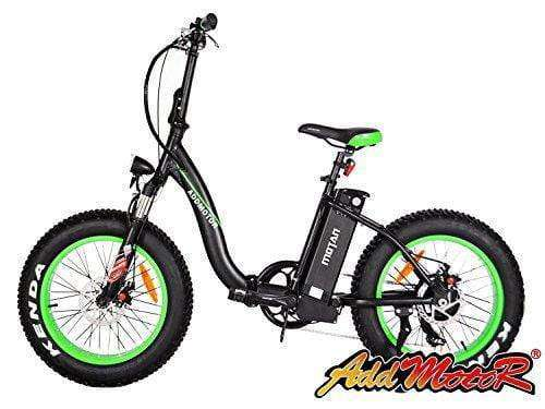 "Addmotor M-140 Folding 500W 48V 26"" Fat Tire Electric Bike Low-frame All Terrain E-bike Green New"