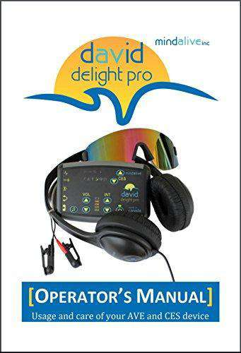DAVID Delight Pro with CES Light and Sound therapy machine by Mind Alive New