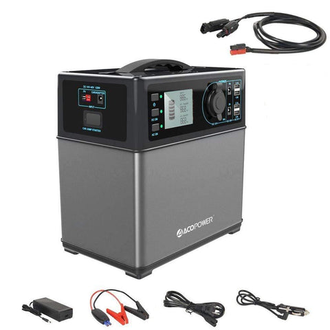 ACOPOWER HYPS5B 400Wh Portable Solar Generator Power Supply with Car Jump Starter New